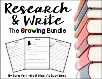 Research & Write Units {The Growing Bundle}