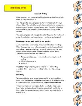 Research Writing Basics