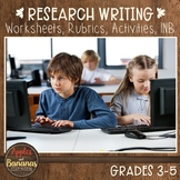 Research Writing - Worksheets, Rubrics, Activities, INB