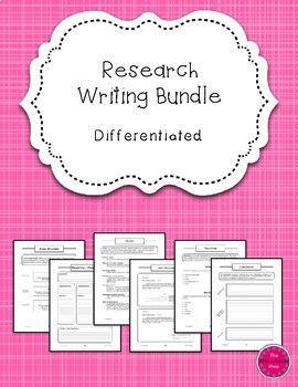 Research Writing {Differentiated} Mega Bundle: Handouts!  Center Work!