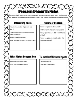 Research Writing Made Easy: Popcorn