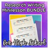 Research Writing Mini Lessons (MLA 8) BUNDLE