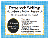 Research Writing: Multi-Genre Author Research Project