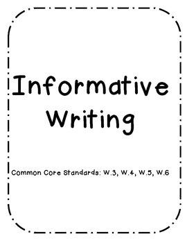 Research Writing Packet (W.3.2, W.3.4, W.3.5, W.3.6)