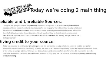Research Writing: Reliable Sources and Plagiarism