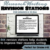 Research Writing Revision Stations for Grades 6-10