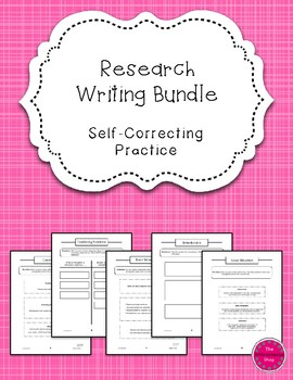 Research Writing Self-Correcting Center Work {Differentiated}