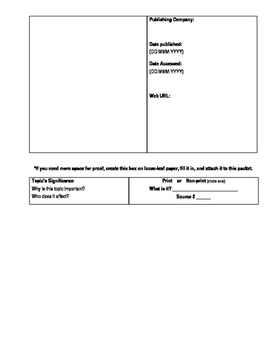 Research Writing Template