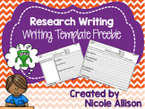 Research Writing Template {Freebie}