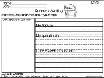 Research Writing Template {Freebie}