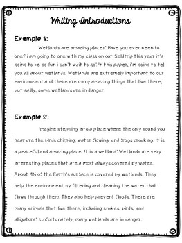 Research Writing Unit- 5th Grade