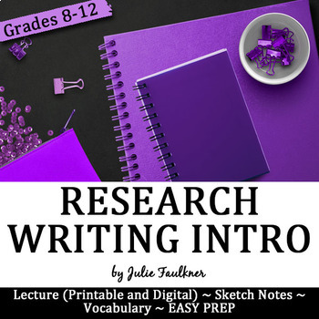 Research Writing Unit Introduction Lesson, Digital and Traditional