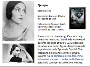 Research a Hispanic celebrity project.
