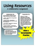 Using Resources - Research a State - Atlas and Encyclopedia