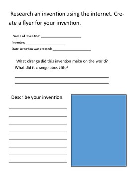 Research an Invention Flyer