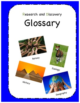 Montessori - Three Part Cards - Research and Discovery Glossary