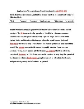 research and explanatory essay transition words practice tpt research and explanatory essay transition words practice