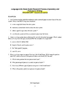 TEST PREP Research and Expository Writing Formative Assessment
