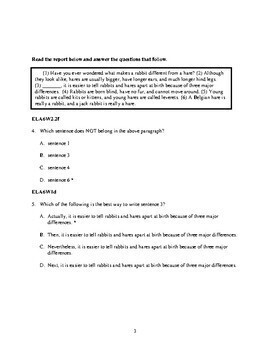TEST PREP Research and Expository Writing Formative Assessment Practice Test