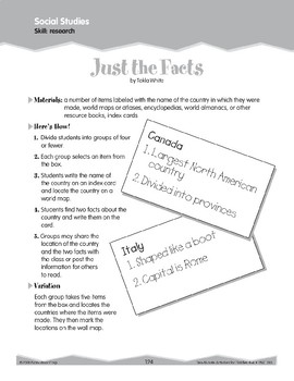 Research and Fact Study (Ten-Minute Activities)