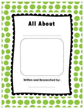 Research and Informative Writing aligned to Common Core--All About and How To