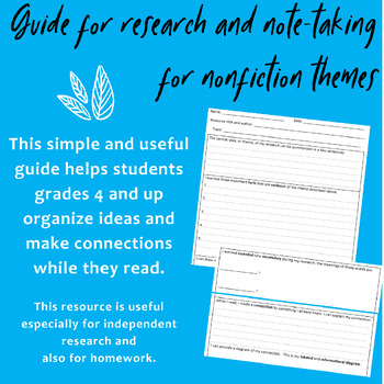 Research and Note-taking Guide