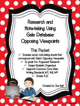 Research and Note-taking Using Gale Database - Opposing Viewpoints