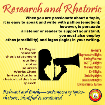 Research and Rhetoric Relevant Activity Using Contemporary Topics