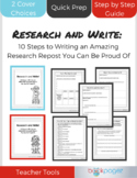 Research and Write: 10 Steps to Writing an AMAZING Researc