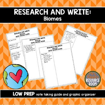 Research and Write: Biomes