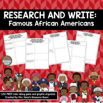 Research and Write: Famous African Americans | Black History Month