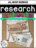 Research and Write: Reindeer QR Code Research and Booklet Writing Project