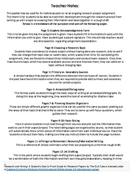 Research and Writing: A Student's Start to Finish Guide for Research Papers