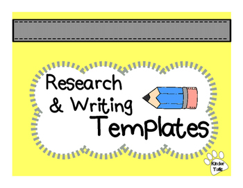 {Freebie} Research and Writing Templates