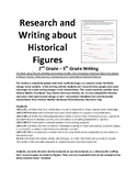 Research and Writing about Historical Figures: 2nd - 5th Grade