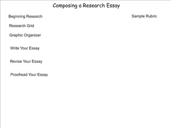 Writing and Research (Grades 3 - 5)