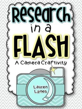 Research in a FLASH! {Camera Craftivity}