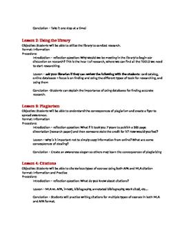 Research lesson plan