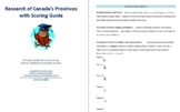 Research of Canada's Provinces with Scoring Guide