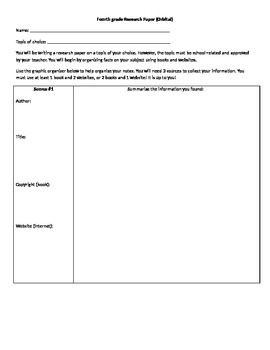 Research paper- student choice