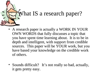 Research paper powerpoint power point