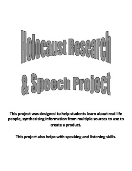 Research project and speech assignment