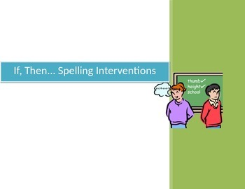 Researched Based Spelling Interventions and Strategies for Poor Spellers