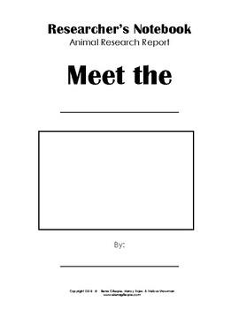 Animal Report Writing Forms - Researcher's Notebook