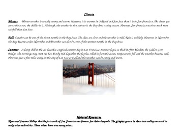 Researching California Regions to Write a Persuasive Travel Brochure