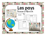 Researching Countries Flip Book - French (Les Pays)