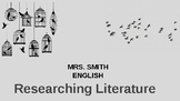 Researching Literature: PowerPoint Assignment