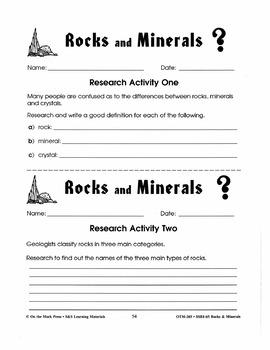 Researching Rocks & Minerals: 14 Activities