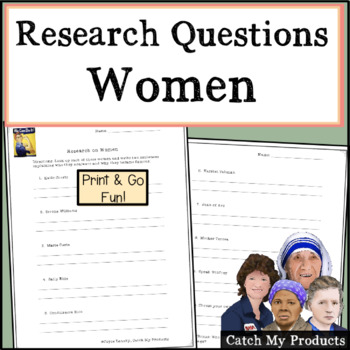 Research Questions About Women: Computer/Library Research