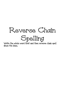 Reverse Chain Spelling